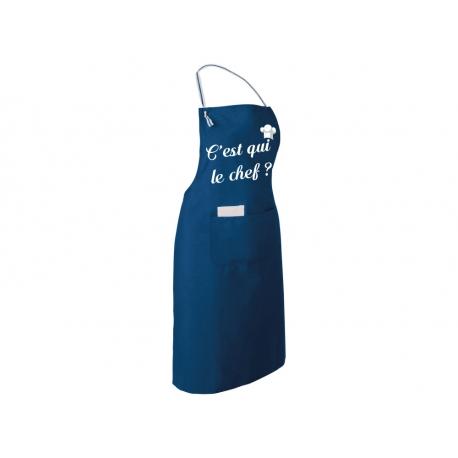 """Tablier de Cuisine Personnalisé - """"C'est qui le Chef"""""""