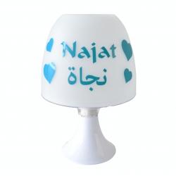 Lampe Personnalisée - Coeur (Francais-Arabe)