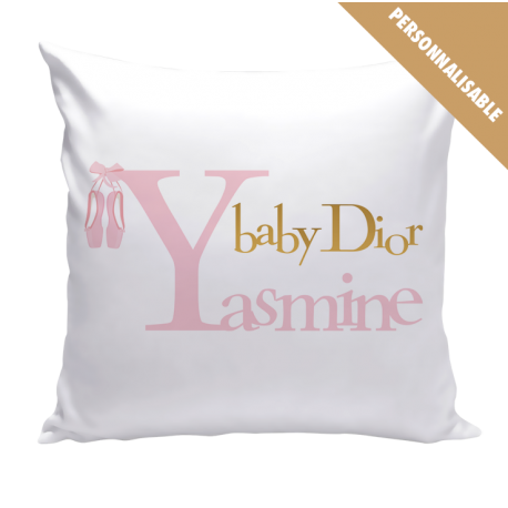 Coussin Personnalisé - Baby Dior Fille