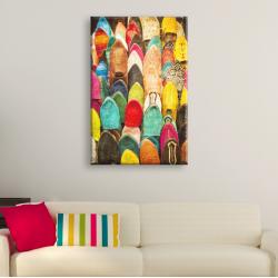 Tableau Oriental - Babouches Marocaines Colorées