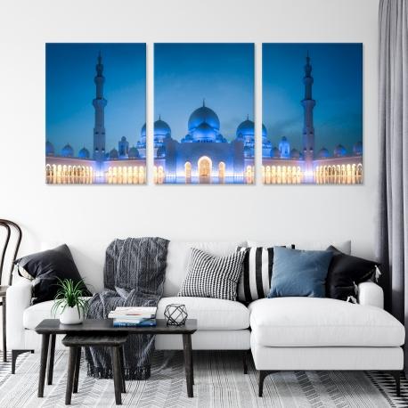 Tryptique Mosquée Cheikh Zayed